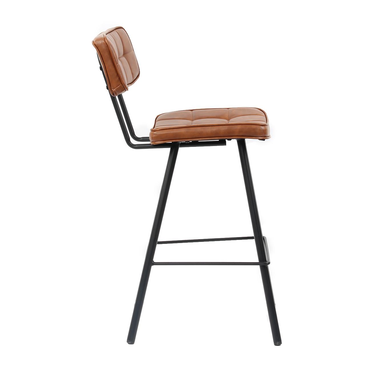 כסא בר מרופד בעיצוב מודרני לפינת האוכל בעל רגלי מתכת בצבעים לבחירה  - תמונה 4