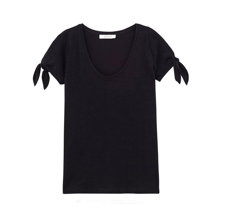 חולצת כותנה עם שרוולים קצרים PROMOD - צבע לבחירה