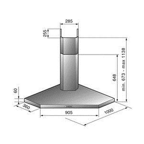 """מיוחדים קולט אדים ארובה פינתי 1000 מק""""ש תוצרת Delonghi דגם CHC1002 מבית ניופאן YR-59"""