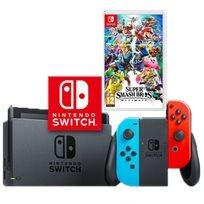 Nintendo Switch נינטנדו סוויץ' חבילת סופר סמאש