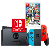 Nintendo Switch נינטנדו סוויץ' חבילת סופר סמאש