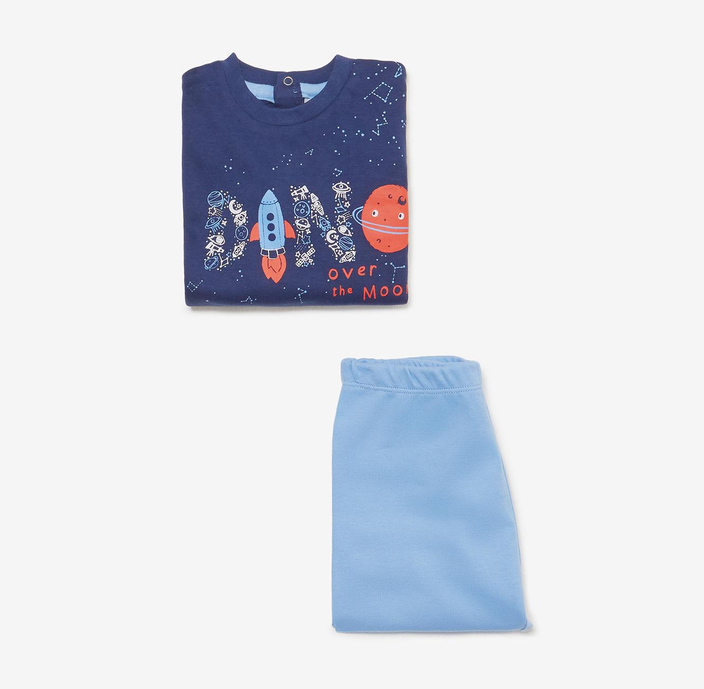 פיג'מה OVS לילדים - כחול עם הדפס
