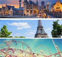 8 ימי טיול מאורגן להולנד, בלגיה וצרפת כולל היורודיסני ואפטלינג גם בסוכות החל מכ-$999*