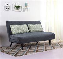 ספה נפתחת למיטה בריפוד בד וכריות צבעוניות דגם SPRING