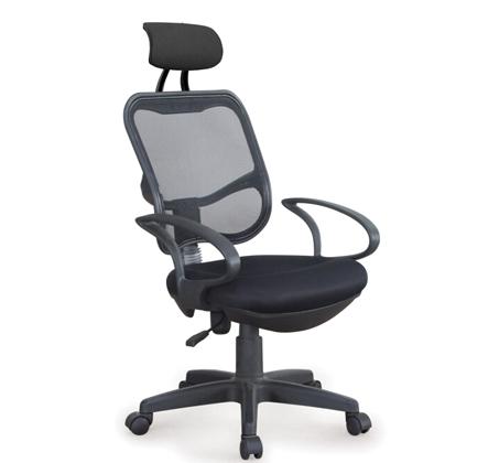 כסא משרדי עם משענת ראש מרופדת במבנה ארגונומי המקנה תמיכה לכל הגוף לישיבה ממושכת - תמונה 4