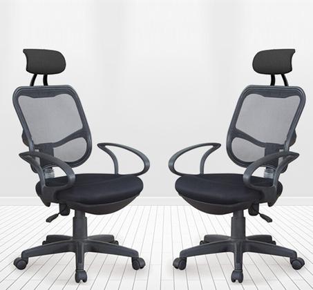 כסא משרדי עם משענת ראש מרופדת במבנה ארגונומי המקנה תמיכה לכל הגוף לישיבה ממושכת - תמונה 3