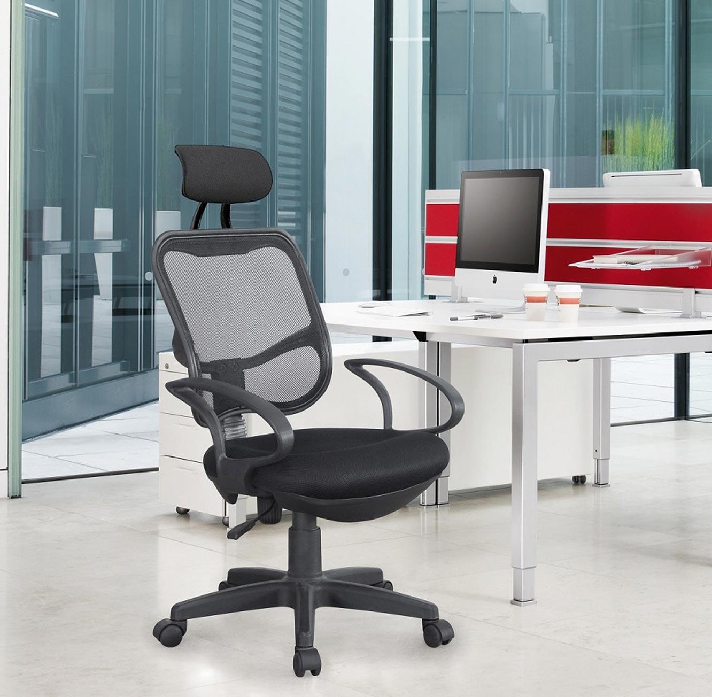 כסא משרדי עם משענת ראש מרופדת במבנה ארגונומי המקנה תמיכה לכל הגוף לישיבה ממושכת - תמונה 2