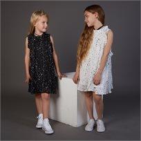 שמלת Oro לילדות (מידות 2-8 שנים) שחור כוכבים