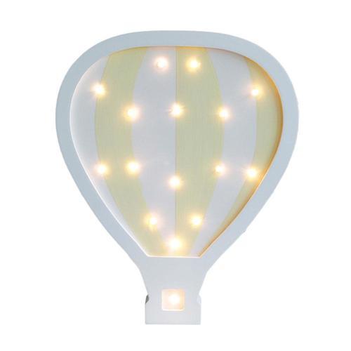 מנורת לילה מעוצבת ענן לחדר ילדים - כדור פורח צהוב/לבן