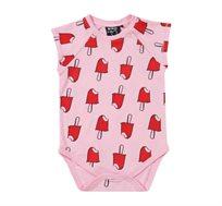בגד גוף קצר Minene לתינוקות - ורוד בהיר מודפס