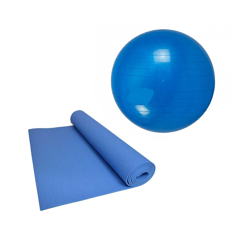 """מארז פילאטיס Energym sport הכולל כדור פיזיו בקוטר 65 ס""""מ ומזרן יוגה - משלוח חינם"""