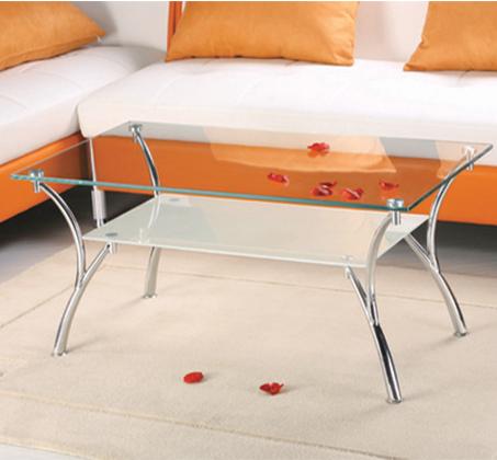 שולחן סלון מזכוכית חלבית דגם CAMPANA