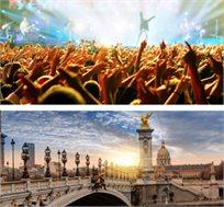 קולדפליי בעיר האורות! טיסות, 4 לילות במלון בפריז וכרטיס להופעה החל מכ-€749*