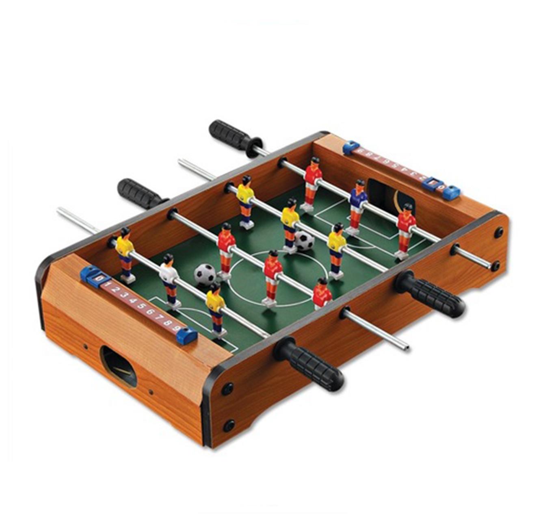 שולחן מיני כדורגל לילדים כולל דמויות משחק ו-2 כדורים