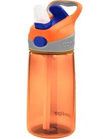 """בקבוק שתייה Striker איכותי לילדים 410 מ""""ל עם קשית נשלפת"""