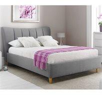 מיטה וחצי 120X190 בעיצוב איטלקי GAROX מרופדת בד איכותי ונעים דגם TERESA - משלוח חינם