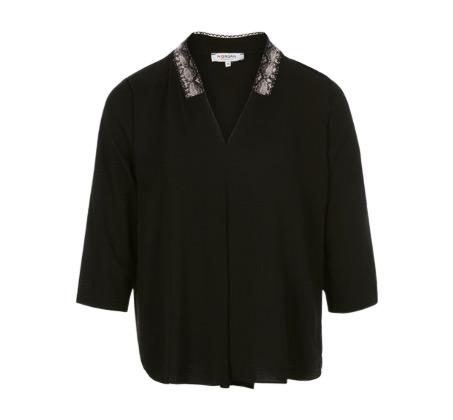 חולצת וי MORGAN לנשים - שחור
