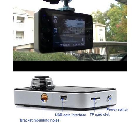 מצלמת רכב איכותית עד 1080P משולבת צילום וידאו עם קול ותמונות - משלוח חינם! - תמונה 4