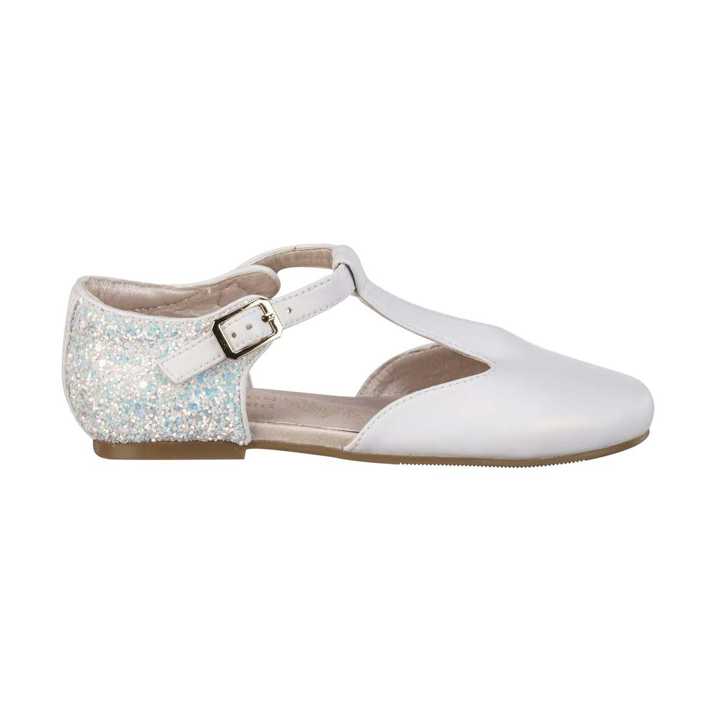 נעלי בובה לבנות - לבן