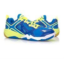 נעלי אינדור מקצועיות לגברים Li Ning Badminton Shoes בצבעי כחול/צהוב