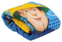 שמיכת פוך חורפית למיטת תינוק או מעבר סמי הכבאי כחול