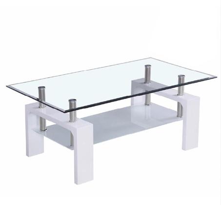 שולחן סלון איכותי משולב זכוכית ומדף תחתון