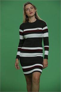 שמלה עם פסים במגוון צבעים לבחירה