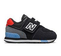 סניקרס לפעוטות 574 New Balance בצבע שחור/אדום/כחול