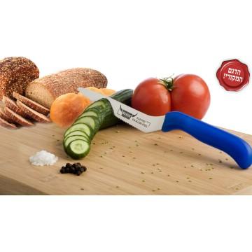 """זוג סכינים רב שימושיות בעלות להב משונן 14 ס""""מ מבית BEROX"""