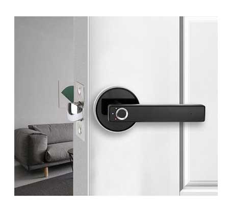 מנעול דלת ביומטרי חכם להגנה מקסימלית ופתיחה מהירה באמצעות טביעת אצבע - משלוח חינם - תמונה 3
