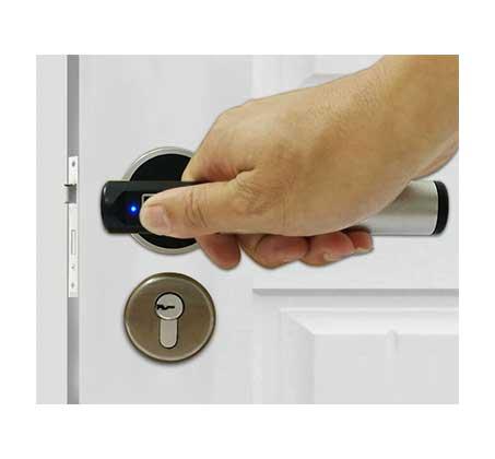 מנעול דלת ביומטרי חכם להגנה מקסימלית ופתיחה מהירה באמצעות טביעת אצבע - משלוח חינם - תמונה 4