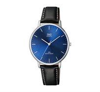 שעון יד אנלוגי לגבר Q&Q בצבע כחול