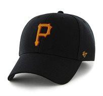 כובע פיטסבורג פיראט - שחור סמל כתום