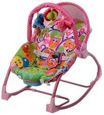 טרמפולינה לתינוק עם כיסא נדנדה 3 ב 1 - חיות ורודות