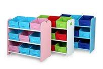 ארגונית צעצועים צבעונית, איכותית וחזקה ב-3 צבעים לבחירה לארגון וסדר בחדרי ילדים - משלוח חינם!