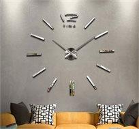 שעון קיר תלת מימדי עשוי מתכת בצבעים לבחירה