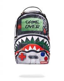 Sprayground תיק גב גולשים שחור מהפנט מסדרת Game Over Shark