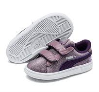 נעלי סניקרס Puma Smash V2 Glitz Glam V PS לילדות - סגול מנצנץ