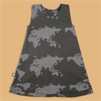 MAYAYA שמלת גופייה (2-14 שנים) גופרית הדפס מפה