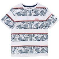 BOSS חולצת טישרט (16 שנים) לבן אפליקציה