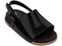 Mini Melissa סנדלים שטוחים (מידות 27-19) - שחור מבריק