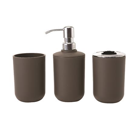 סט 3 חלקים לחדרי האמבטיה הכולל דיספנסר לסבון, מתקן למברשות שינים וכוס B FRESH - תמונה 2