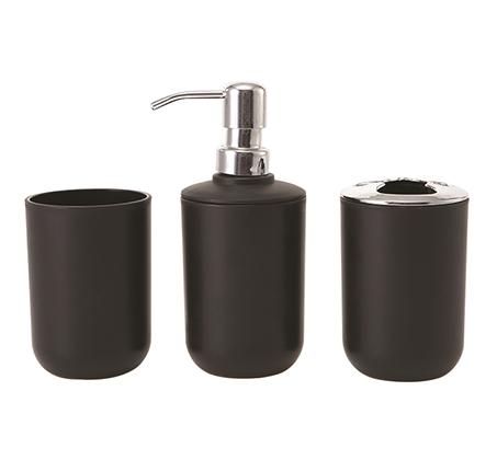 סט 3 חלקים לחדרי האמבטיה הכולל דיספנסר לסבון, מתקן למברשות שינים וכוס B FRESH - תמונה 3