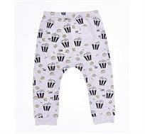 מכנס שקי פופקורן לתינוקות יוניסקס בצבע אפור