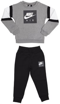 NIKE ילדים קטנים // NIKE AIR CREW AND PANT SET BLACK/GRAY