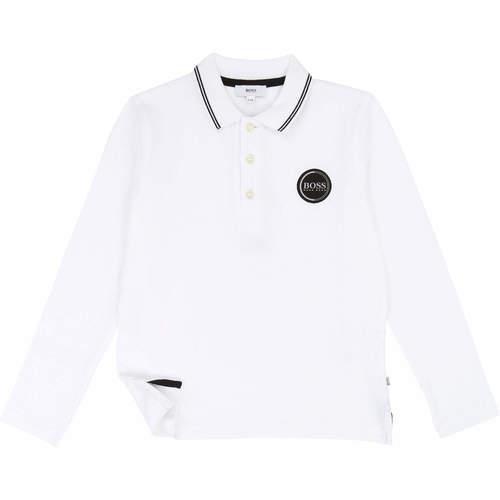 Boss חולצה(3 חודשים-3 שנים) -לבן לוגו