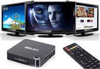 סטרימר מתאם ANDROID TV BOX EM95 עם מעבד 4 ליבות 64 ביט חיבור HDMI תומך 4K חיבור רשת ג'יגהביט