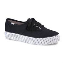 Keds - נעלי סניקרס טריפל דוט בצבע שחור עם סולייה בעיטור נקודות