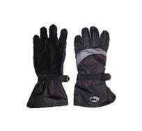 כפפות סקי ארוכות במיוחד חגור לתנאי קור ופעילויות שלג בצבע שחור
