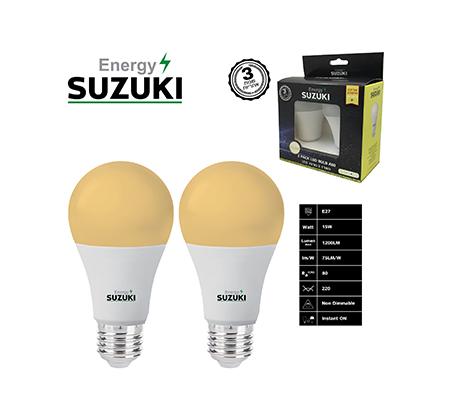 מארז 2 נורות 11W LED בצבעים לבחירה SUZUKI Energy